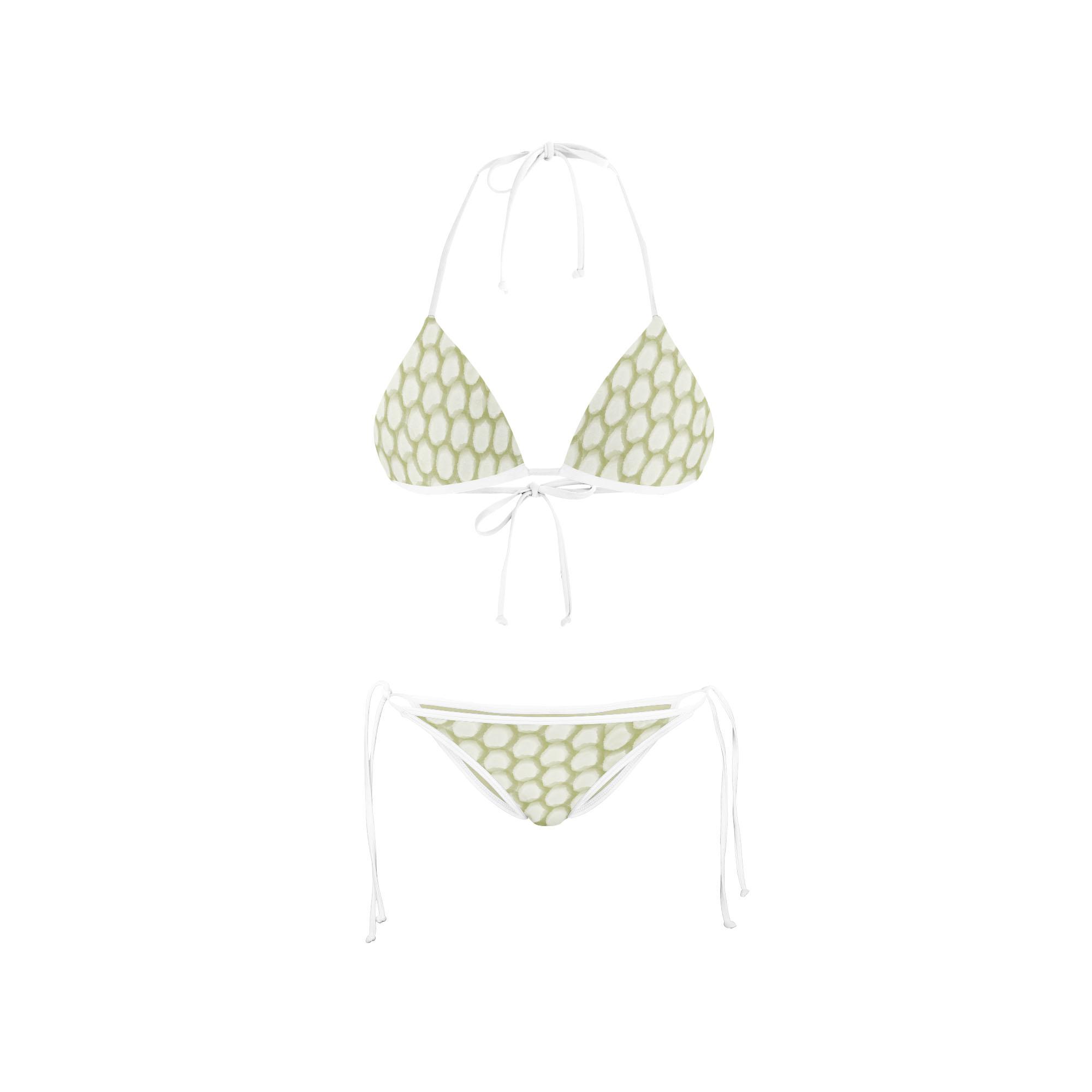 Bikini Front Retro Spot Green