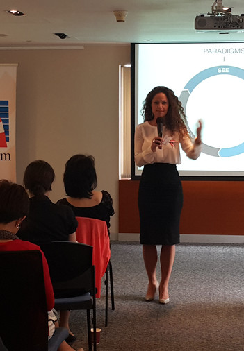 Ella speaking at The Amercia Chambers of Commerce