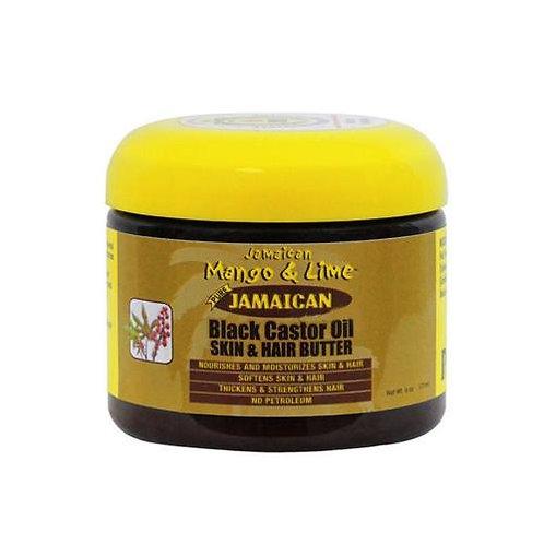 JML black castor oil skin hair butter 6oz
