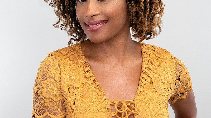 "Femi col human hair afro puff 16"""
