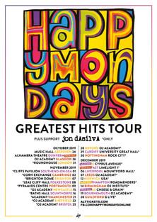Happy Mondays tour poster