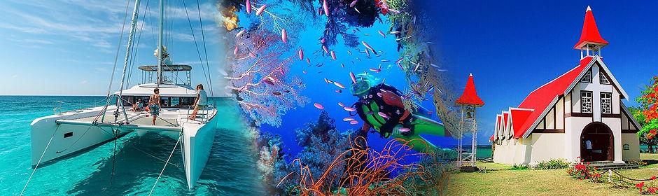 Excursions Ile Maurice - Nage avec les dauphins, Catamarans, plongée, pêche aux gros, randonnées