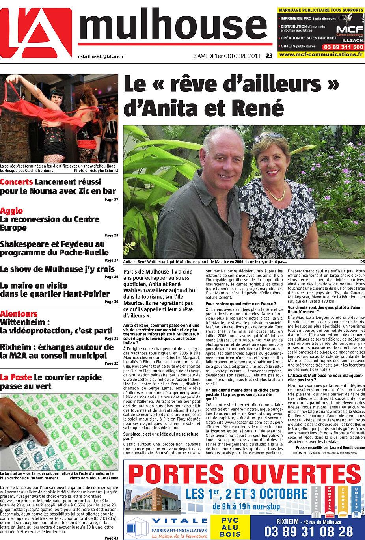 Le ''rêve d'ailleurs'' - De l'Alsace à l'Ile Maurice