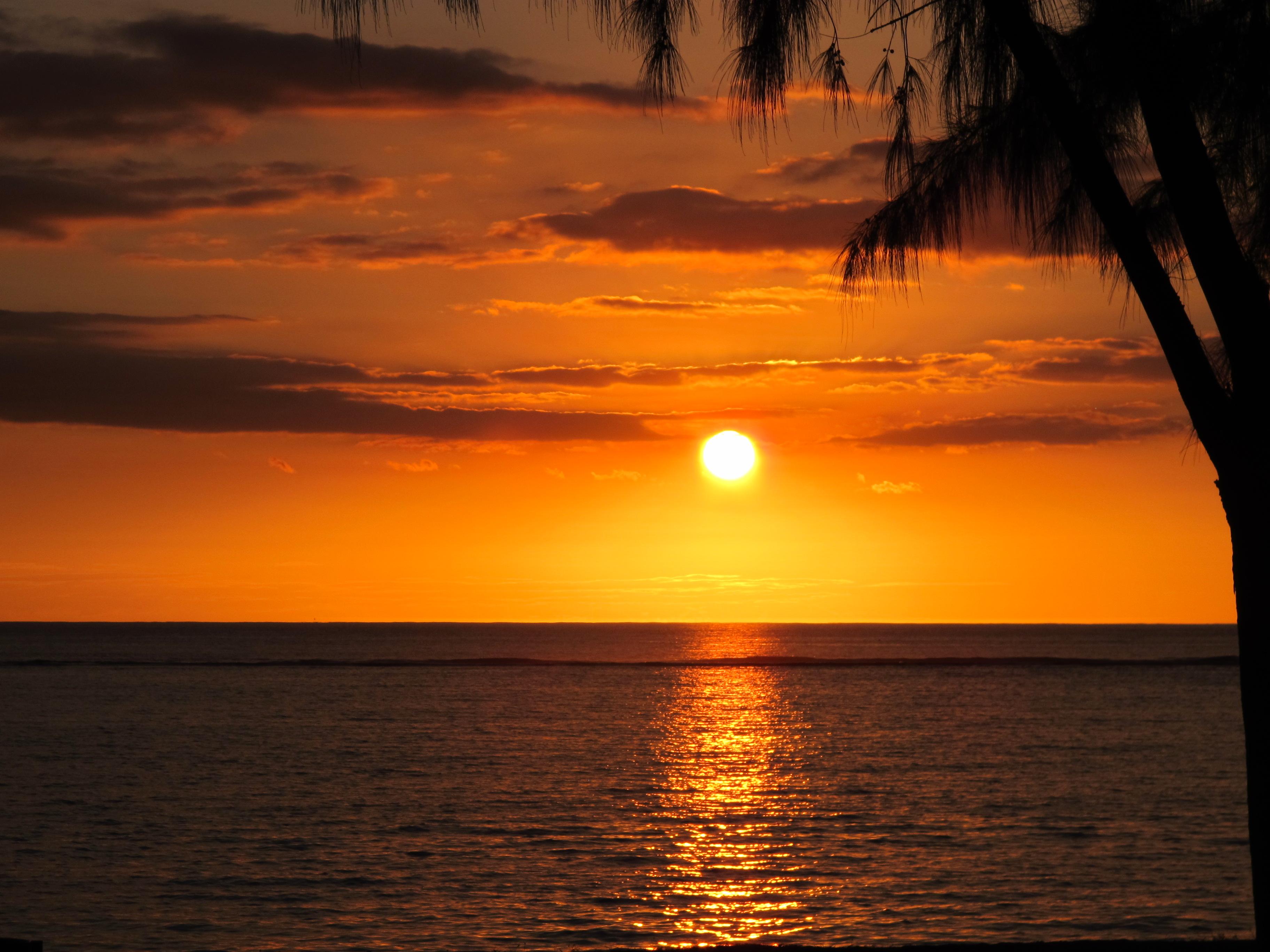 Flic en Flac coucher de soleil