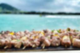 Brochettes marlin ile au Bénitier