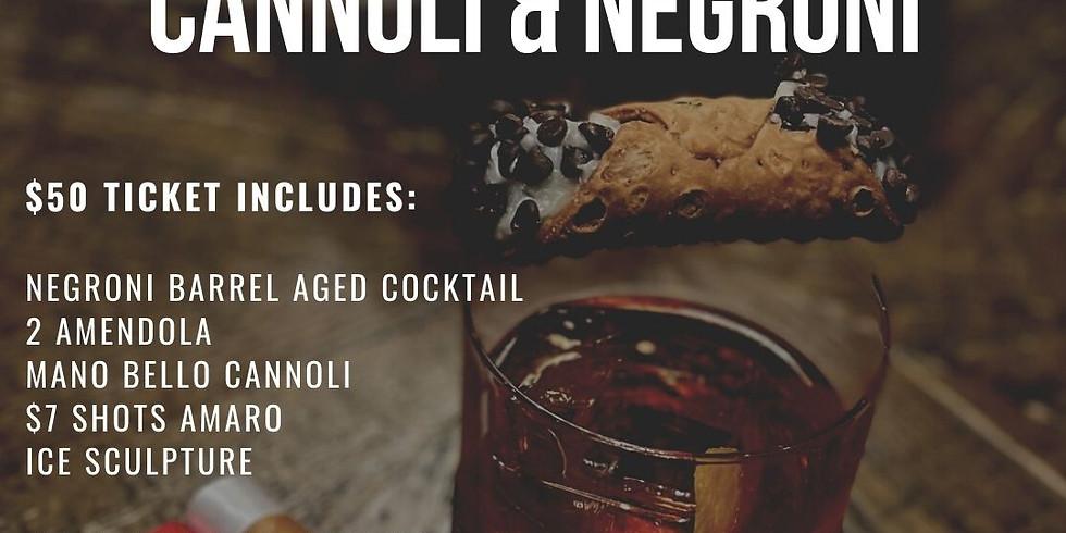 Cannoli & Negroni October 14th 6:30pm   $50 Ticket
