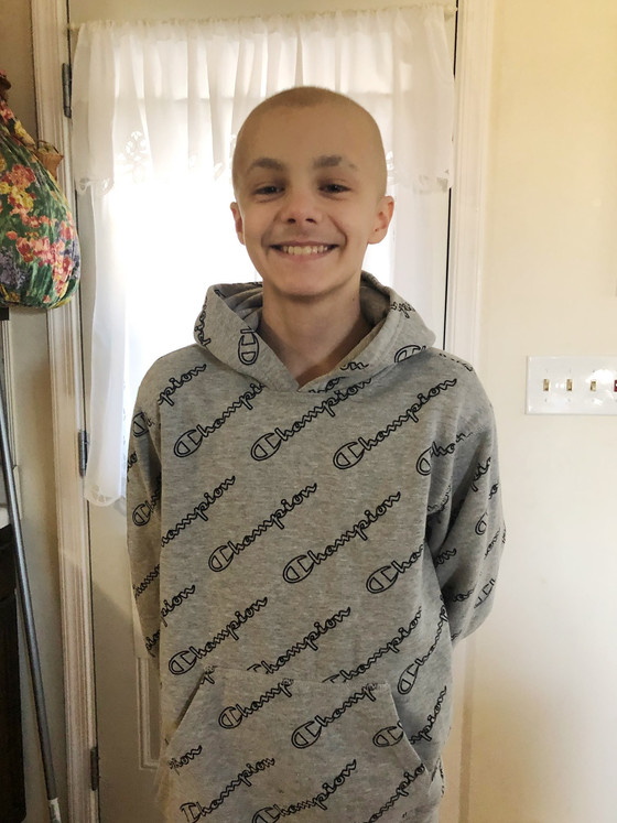 Update on Aiden - Hair is Growing Back After Chemo!