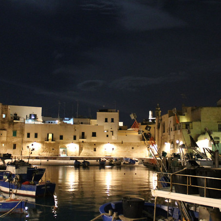 Puglia and Pulia: First night in Monopoli (four years ago)