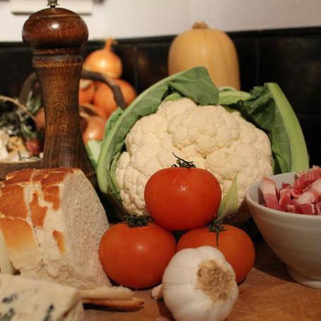 Cauliflower Cheese with a twist