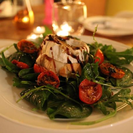 Warm Goats Cheese Salad