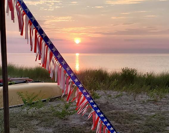 July 4th 2019 beautiful sunrise
