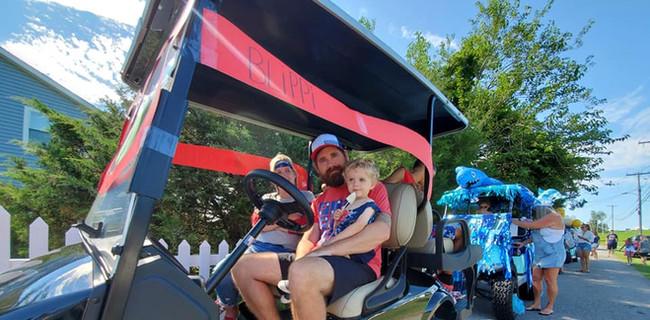 Blippi golf cart