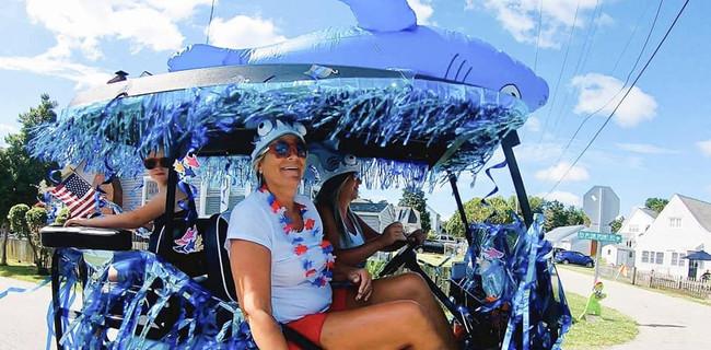 Shark golf cart