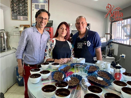 VC Carolina was cupping with Laderas del Tapias, Pelaez Jaramillo and their quality manager.