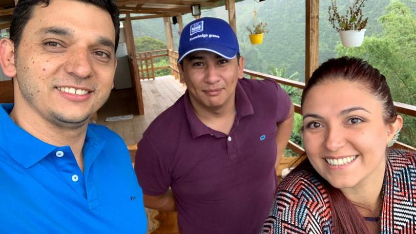 VC Carolina with Finca Monteblanco Rodrigo Sanchez and Finca Monteverde's Newerly Gutiérrez