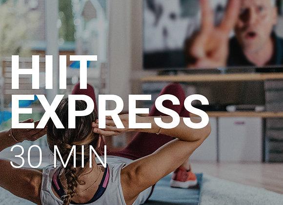 HIIT EXPRESS 30 MIN. 04.06, 8Uhr