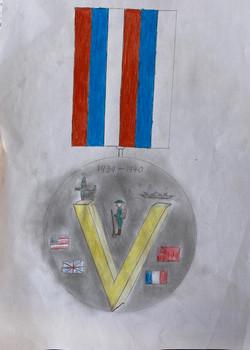Louis VE Day medal