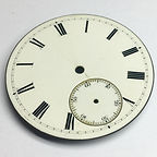 Enamel dial before conservation