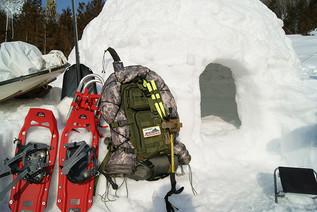 突然ですが雪山でイグルーを作ってみました!前編!