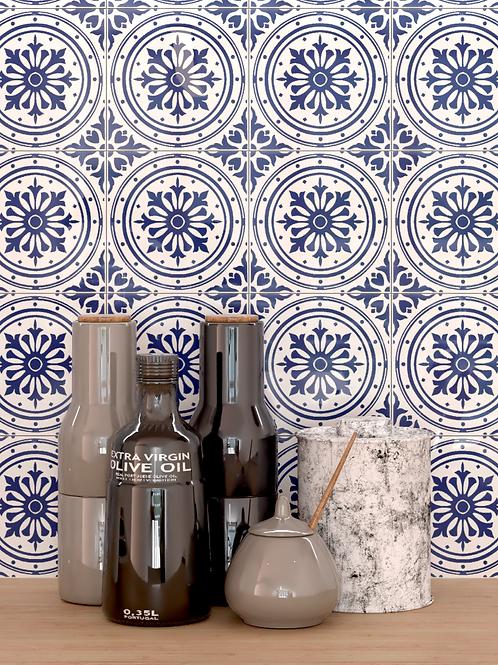 Azulejo Português Lisboa Azul