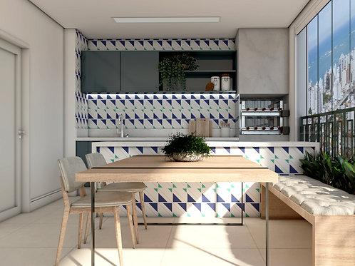 Azulejo Geométrico  Kythnos