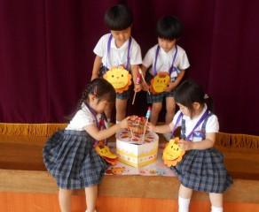 年少組・2歳児 お誕生会をしました。