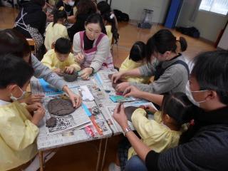 親子陶芸教室がありました。
