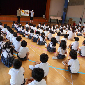 年中・年少組対象 防犯教室がありました。