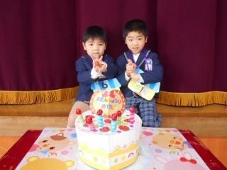 2月生まれのお友だちのお誕生会!