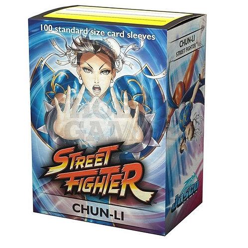 100 Sleeves Taille Standard : Street Fighter CHUN-LI