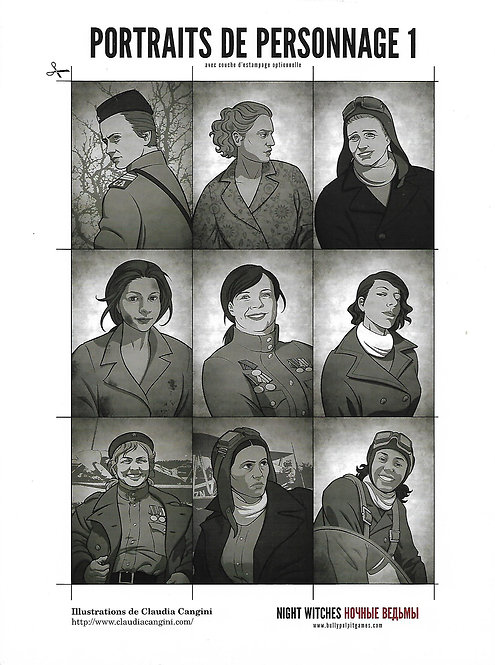 NIGHT WITCHES : Portraits de personnage 1