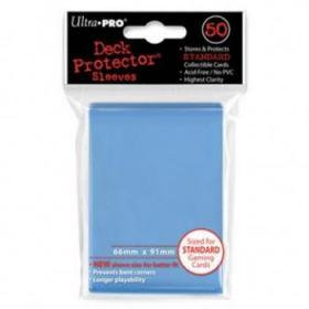 50 Protections Individuelles de Carte Ultra.Pro - Bleu Clair