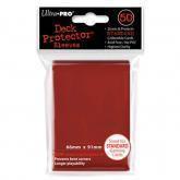 50 Protections Individuelles de Carte Ultra.Pro - Rouge