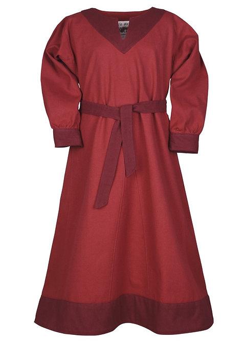 Robe Viking SOLVEIG Rouge/Bordeaux - Enfant