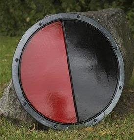 Bouclier PREMIERE BATAILLE Rouge et Noir
