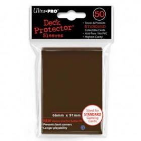 50 Protections Individuelles de Carte Ultra.Pro - Marron