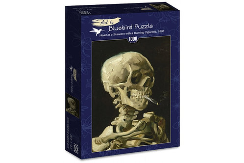 Puzzle Head Of A Skeleton With A Burning Cigarette 1000 Pièces