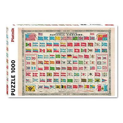 Puzzle Emblèmes Nationaux 1000 Pièces