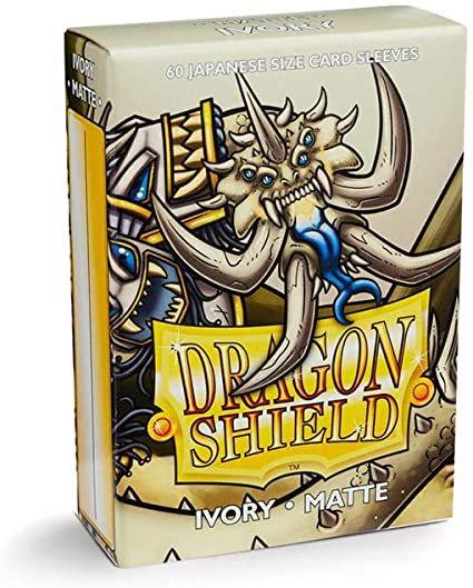 Dragon Shield-format japonais 60 sleeves : IVORY MATTE