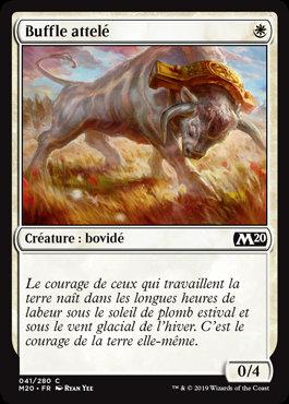 Blanche - Buffle attelé (M20)
