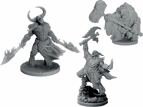 D&D COLLECTOR'S SERIES Figurines ARKHAN THE CRUEL & THE DARK ORDER