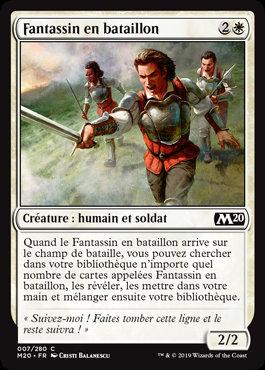 Blanche - Fantassin en bataillon (M20)