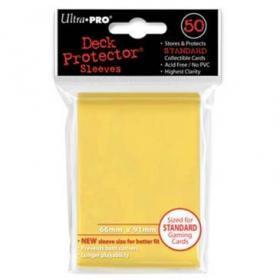 50 Protections Individuelles de Carte Ultra.Pro - Jaune