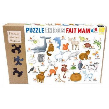 Puzzle Michèle Wilson - L'Alphabet des Animaux 12 P