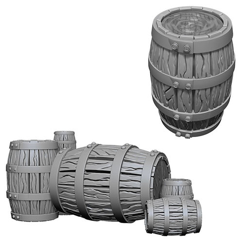 DEEP CUTS Figurines BARREL & PILE OF BARRELS