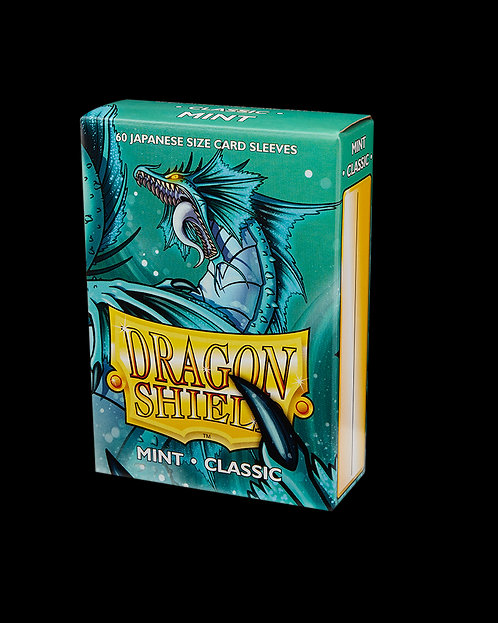 Dragon Shield-format japonais 60 sleeves : MINT CLASSIC