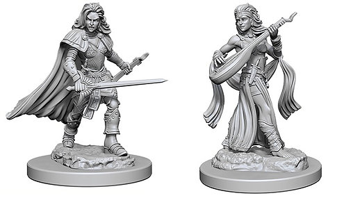 D&D Figurines HUMAN FEMALE BARD