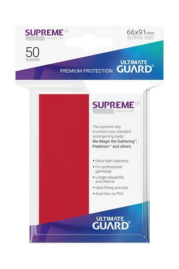 Ultimate Guard 50 Protection Supreme UX Rouge