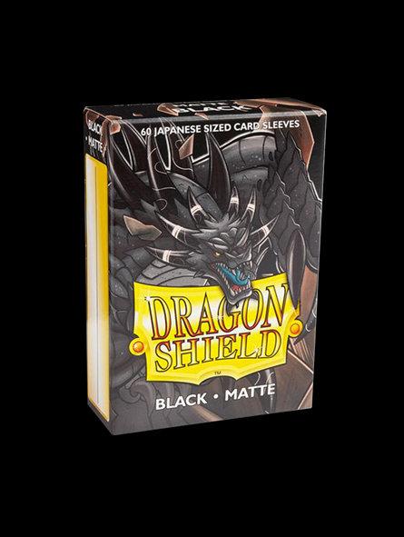 Dragon Shield-format japonais 60 sleeves : BLACK MATTE