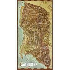 D&D 5e EDITION : WATERDEEP CITY MAP